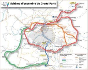 Plan du grand Paris